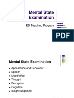 Mental State and CERTIFICATION