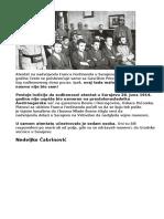 Atentatori Iz Sarajeva - I Svetski Rat