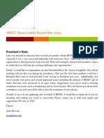 IRNSC Newsletter Nov 2013