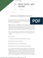 Motor Oil Test Data