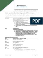 madeline cooney resume