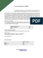 Separation Process Calculation
