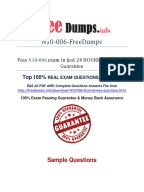 Network Exam Cram Study Sheet