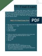 MKT 571 Final Exam