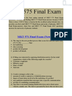 MKT 575 Final Exam Answers UOP - MKT 575 Final Exam