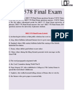 MKT 578 Final Exam Answers