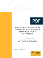 Branding and Destination Image