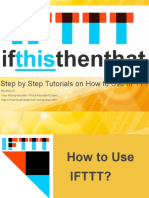 IFTTT Step by Step Tutorials