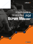 A Quick Guide to Hiring a Remarkable Scrum Master