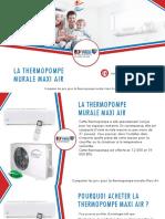 Thermopompe murale Maxi Air - comparer 3 prix