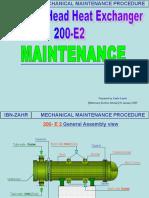 200 E 2 Floating Head Heat Exchanger Maintenance