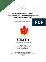Petunjuk Pelaksanaan PKPA Mayor RS XLIII