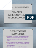 Chapter 1 Introduction to Microeconomics