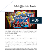 Prediksi Bola Cadiz Vs Atletico Madrid 12 Agustus 2016
