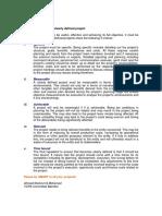 5 Characteristics-Defined Project