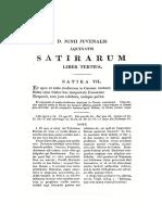 Iuvenalis Satyra VII