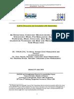 Bangladesh Macroeconomic Accounting Spreadsheet Model-Update 1 June 2014