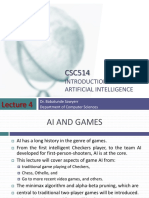 Introduction to Artificial Intelligence -Lecture 4