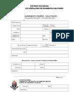 REQUERIMENTO PADRÃO - 2015