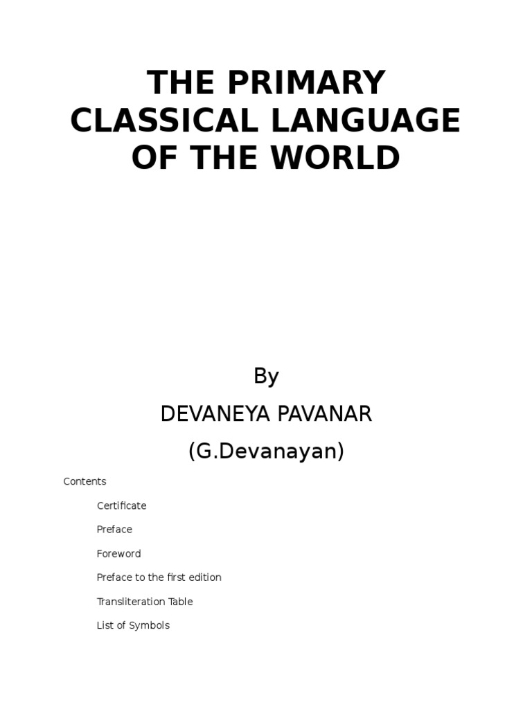 The Primary Classical Language Of The World Linguistics Languages - World first language list