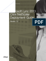 Documents.mx Netscaler Deployment Guide for Microsoft Lync 2013