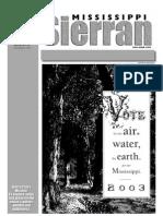 October 2003 Mississippi Sierra Club Newsletter