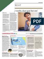 Acupunctuur Bij Bas Van Dijk in Het Algemeen Dagblad