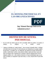 Sistema Psicosocial en Las Organizaciones Clase 8