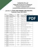 Jadwal Petugas Dan Pembina Upacara 2015-2016 Bayangan Prin 2 Biji