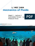 Week 2 Lecture 3 - Hydrostatic Force Location