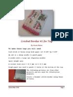 Crochet Border Tags