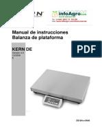 Instrucciones Balanza Sobremesa Digital Kern De
