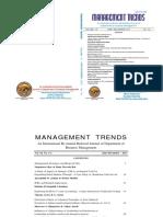 Management Trends June - Dec 2013