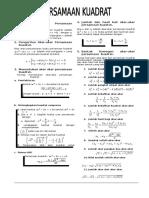 Materi Persamaan Kuadrat LENGKAP - PRINT