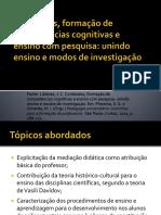 Conteúdos, formação  de competências cognitivas e ensino com pesquisa