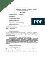 LEY N° 29174 - LEY GENERAL DE CENTRO DE ATENCION RESIDENCIAL