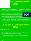 ch 10 sec 1 jefferson takes office