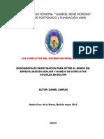 Los Conflictos Del Sistema Nacional de Salud Bolivia