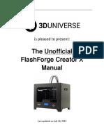Unofficial FlashForge Creator X Manual