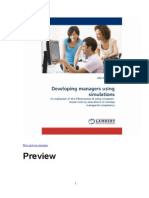 Developing Managers Using Simulations - Book Preview