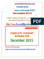 CA4Examz- Dec 2015 Current Affairs