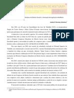 SOBREIRA, Gabriel Vitorino. O Primeiro Congresso Brasileiro de Direito Social e a formação da legislação trabalhista