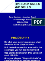 Defensive Back Skills and Drills Talk