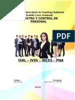 ISRL – IVSS – INCES - PNA