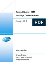 Pfizer Q2 2016 Earnings Charts