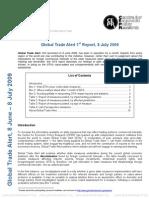 Global Trade Alert 1st Report