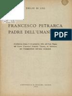 Francesco Petrarca Padre Dell'Umanesimo