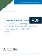SQL Server 2014 Multi Subnet Cluster 1