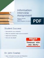 information interview assignment