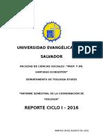 Reporte de Actividades - Ciclo i 2016